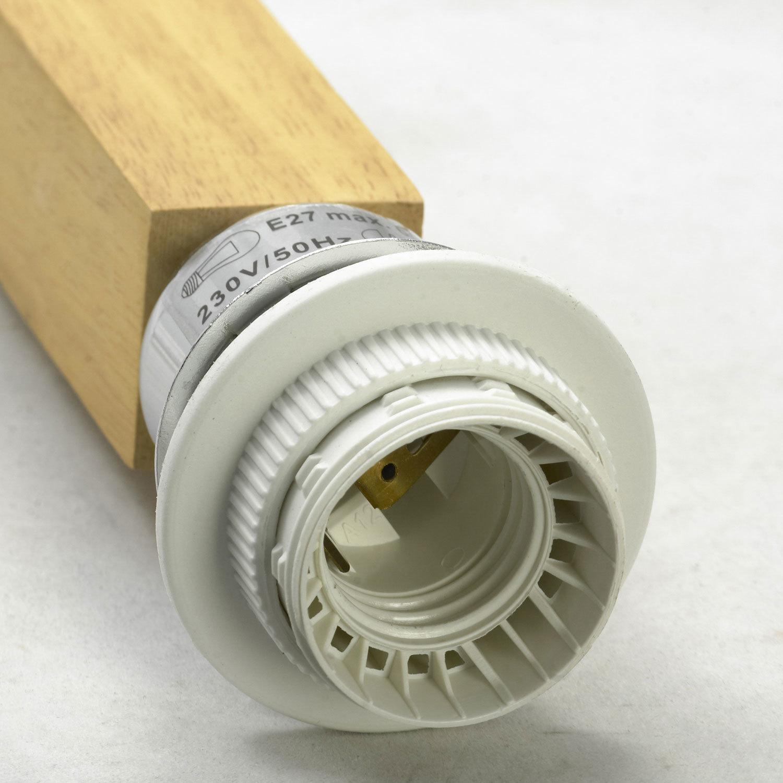 Подвесной светильник Lussole Montone LSF-2516-01, IP21, 1xE27x60W, коричневый, белый, дерево, стекло, текстиль - фото 3