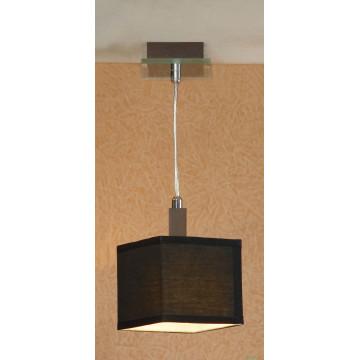 Подвесной светильник Lussole Montone LSF-2576-01, IP21, 1xE14x40W, венге, хром, черный, дерево, стекло, текстиль