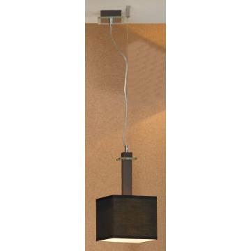 Подвесной светильник Lussole Montone LSF-2586-01, IP21, 1xE27x60W, венге, хром, черный, дерево, стекло, текстиль