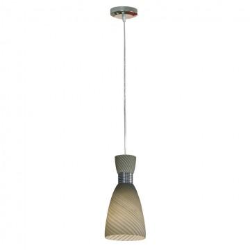 Подвесной светильник Lussole Loft Marcelli LSF-7376-01, IP21, 1xE27x60W, хром, серый, металл, стекло