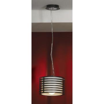 Подвесной светильник Lussole Busachi LSF-8206-01, черный, белый, металл, стекло