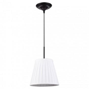 Подвесной светильник Lussole Loft Milazzo LSL-2916-01, IP21, 1xE14x40W, черный, белый, металл, текстиль