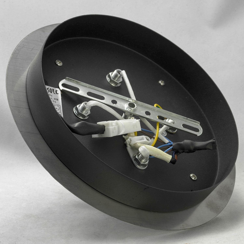 Потолочный светильник Lussole Loft Vetere LSF-2377-04, IP21, 4xE14x40W, черный, металл, металл с пластиком - фото 6