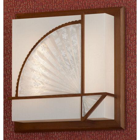 Потолочный светильник Lussole Barbara LSF-9002-02, IP21, 2x2G11x24W, коричневый, белый, дерево, пластик