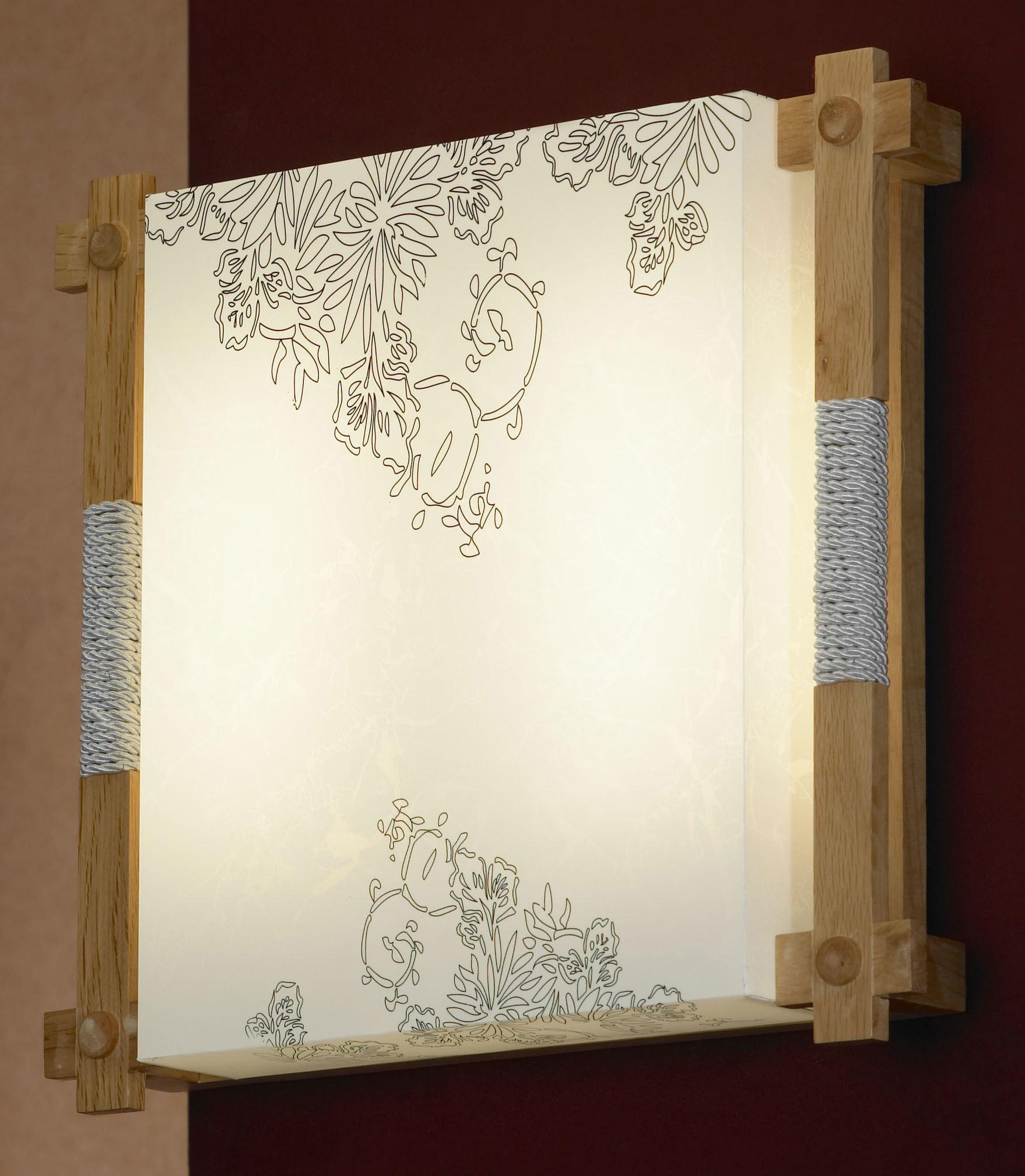 Потолочный светильник Lussole Arcevia LSF-9102-02, IP21, 2x2G11x24W, коричневый, белый, дерево, пластик - фото 1