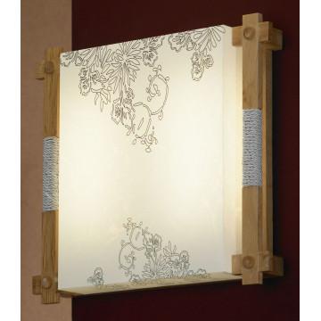 Потолочный светильник Lussole Arcevia LSF-9102-02, IP21, 2x2G11x24W, коричневый, белый, дерево, пластик - миниатюра 2