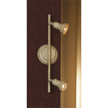 Потолочный светильник с регулировкой направления света Lussole Loft Sobretta LSL-2501-02, 2xGU10x50W, бежевый, металл