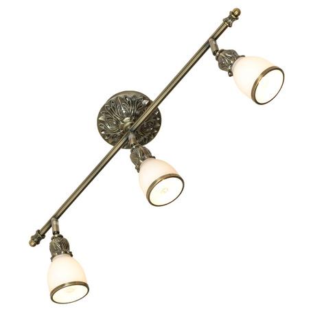 Потолочный светильник с регулировкой направления света Lussole Loft Furlo LSL-7301-03, IP21, 3xE14x40W, бронза, металл, стекло