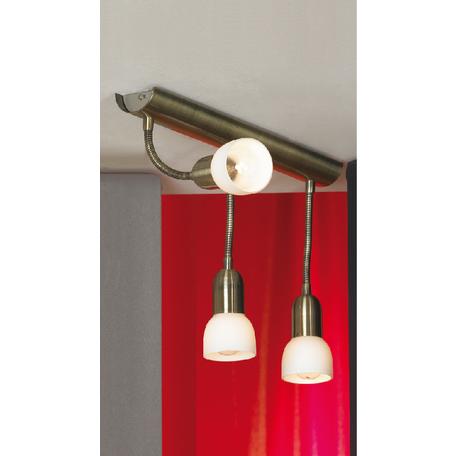 Потолочный светильник Lussole Loft Barete LSL-7760-03, IP21, 3xE14x40W, бронза, белый, металл, стекло