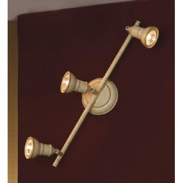 Потолочный светильник с регулировкой направления света Lussole Loft Sobretta LSL-2501-03, IP21, 3xGU10x50W, бежевый, металл