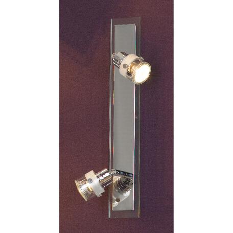 Потолочный светильник с регулировкой направления света Lussole Perspicuo LSL-5291-02, 2xGU10x50W, хром, прозрачный, металл, стекло