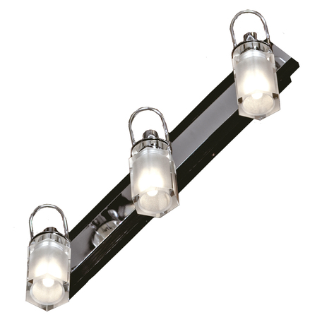 Потолочный светильник с регулировкой направления света Lussole Abruzzi LSL-7901-03, IP21, 3xG9x40W, черный, белый, металл с пластиком, стекло
