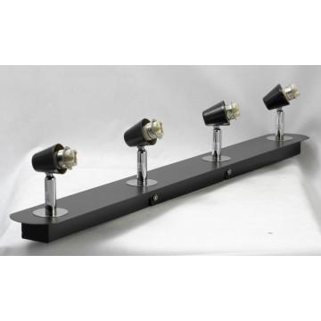 Потолочный светильник с регулировкой направления света Lussole Silandro LSL-8609-04, IP21, 4xG9x40W, хром, прозрачный, металл, стекло - миниатюра 2