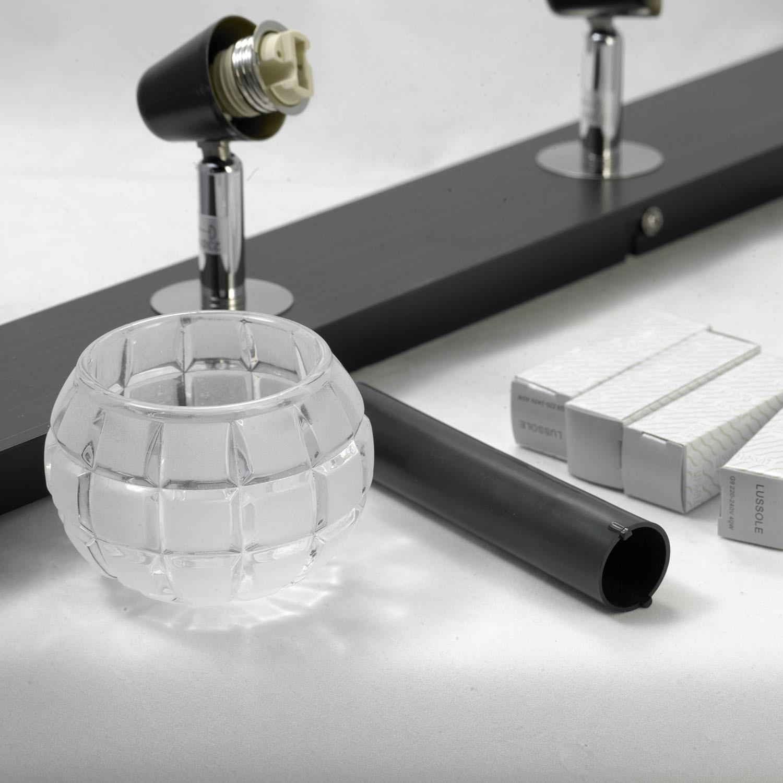 Потолочный светильник с регулировкой направления света Lussole Silandro LSL-8609-04, IP21, 4xG9x40W, хром, прозрачный, металл, стекло - фото 4