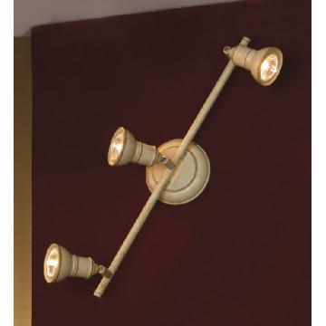 Потолочный светильник с регулировкой направления света Lussole Loft Sobretta LSL-2501-03, IP21, 3xGU10x50W, бежевый, металл - миниатюра 2