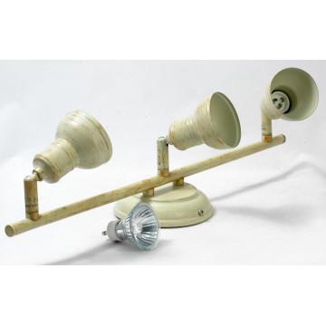 Потолочный светильник с регулировкой направления света Lussole Loft Sobretta LSL-2501-03, IP21, 3xGU10x50W, бежевый, металл - миниатюра 4