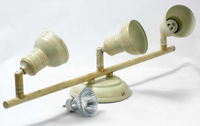 Потолочный светильник с регулировкой направления света Lussole Loft Sobretta LSL-2501-03, IP21, 3xGU10x50W, бежевый, металл - фото 4