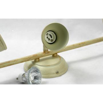 Потолочный светильник с регулировкой направления света Lussole Loft Sobretta LSL-2501-03, IP21, 3xGU10x50W, бежевый, металл - миниатюра 5