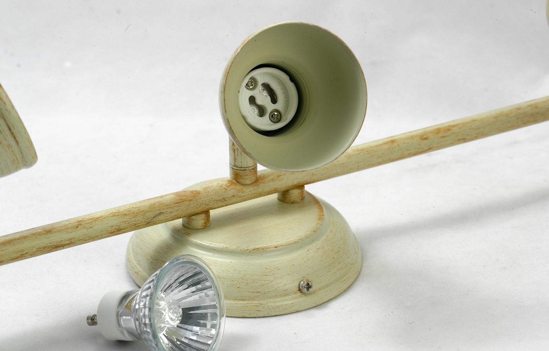 Потолочный светильник с регулировкой направления света Lussole Loft Sobretta LSL-2501-03, IP21, 3xGU10x50W, бежевый, металл - фото 5