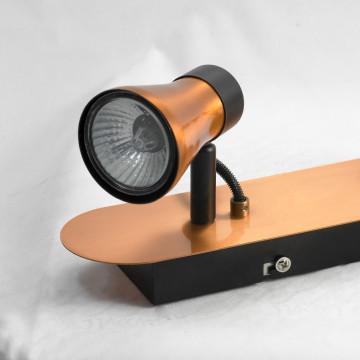 Потолочный светильник с регулировкой направления света Lussole Forli LSL-6801-02, IP21, 2xGU10x50W, медь, металл - миниатюра 2