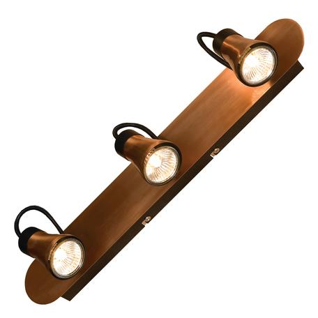 Потолочный светильник с регулировкой направления света Lussole Forli LSL-6801-03, IP21, 3xGU10x50W, медь, металл