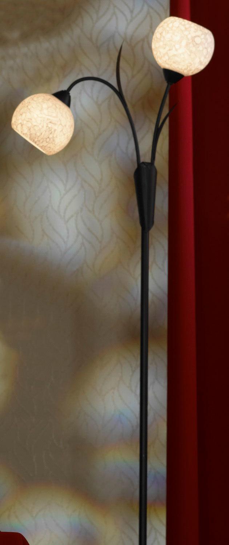 Торшер Lussole Loft Bagheria LSF-6295-02, IP21, 2xE14x40W, коричневый, белый, металл, стекло - фото 2