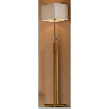 Торшер Lussole Montone LSF-2505-01, IP21, 1xE27x60W, коричневый, белый, дерево, стекло, текстиль