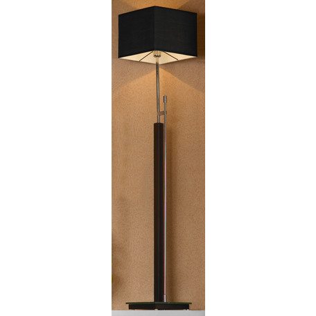 Торшер Lussole Montone LSF-2575-01, IP21, 1xE27x60W, венге, хром, черный, дерево, стекло, текстиль