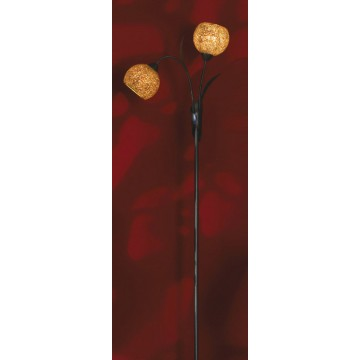 Торшер Lussole Loft Bagheria LSF-6205-02, IP21, 2xE14x40W, коричневый, оранжевый, металл, стекло