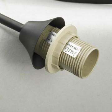 Торшер Lussole Loft Bagheria LSF-6295-02, IP21, 2xE14x40W, коричневый, белый, металл, стекло - миниатюра 2