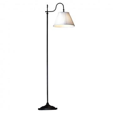 Торшер Lussole Loft Milazzo LSL-2905-01, IP21, 1xE27x60W, черный, белый, металл, текстиль