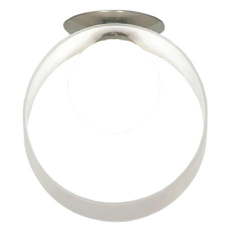 Встраиваемый светильник Lussole Loft Pallottola LSN-0400-01, 1xG9x40W, никель, белый, металл, стекло