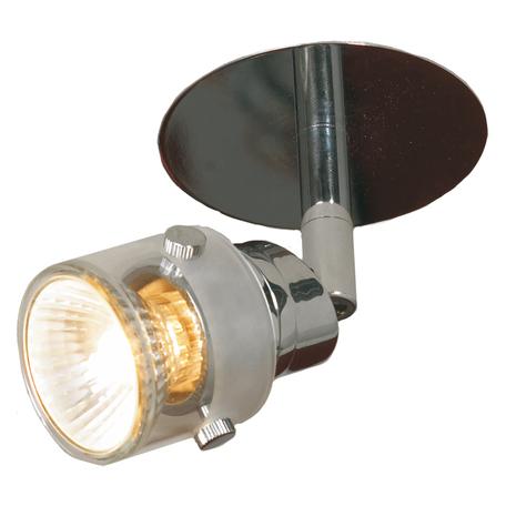 Встраиваемый светильник с регулировкой направления света Lussole Perspicuo LSL-5290-01, 1xGU10x50W, хром, прозрачный, металл, стекло
