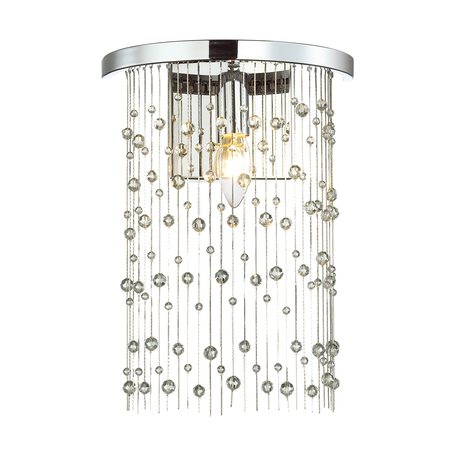 Бра Odeon Light Hall Raini 4845/1W, 1xE14x40W, хром, металл, металл с хрусталем
