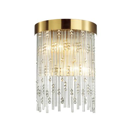 Бра Odeon Light Hall Refano 4848/2W, 2xE14x40W, золото, прозрачный, металл, хрусталь