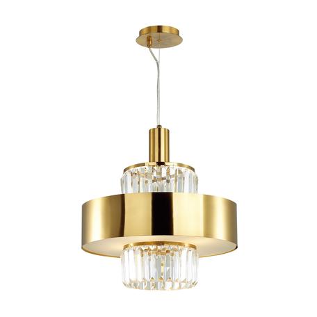 Подвесная люстра Odeon Light Hall Lepart 4840/4, 4xE14x40W, золото, прозрачный, металл, хрусталь