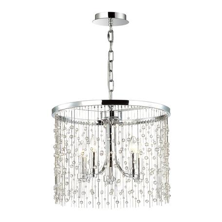 Подвесная люстра Odeon Light Hall Raini 4845/5, 5xE14x40W, хром, металл, металл с хрусталем