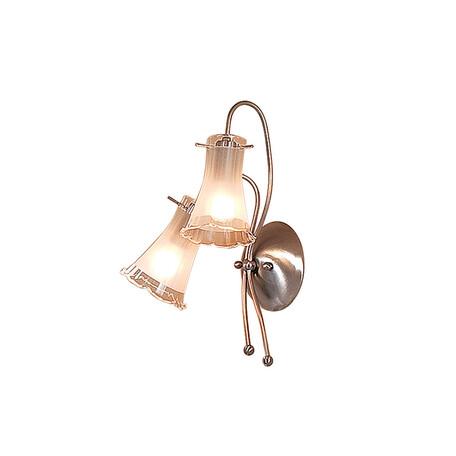 Бра Citilux Дана CL106321, 2xE14x60W, матовый хром, белый, металл, стекло