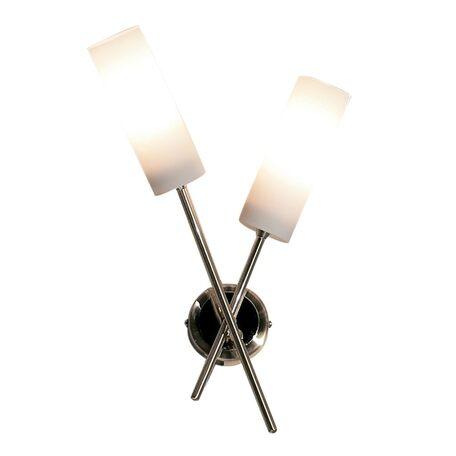 Бра Citilux Новелла CL122322, 2xE14x60W, золото, белый, металл, стекло