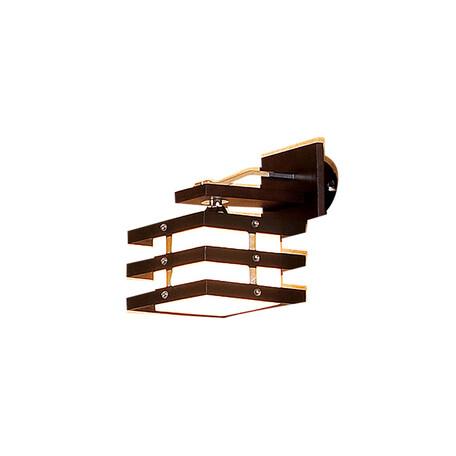 Бра Citilux Киото CL133311, 1xE14x60W, венге, хром, белый, дерево, металл, стекло
