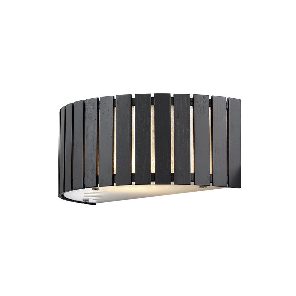 Настенный светильник Citilux Ямато CL137321, 2xE14x40W, коричневый, дерево, стекло - фото 1