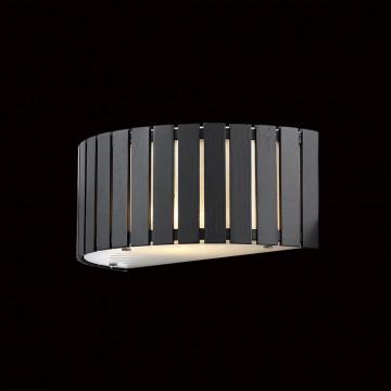 Настенный светильник Citilux Ямато CL137321, 2xE14x40W, белый, коричневый, дерево, стекло - миниатюра 2