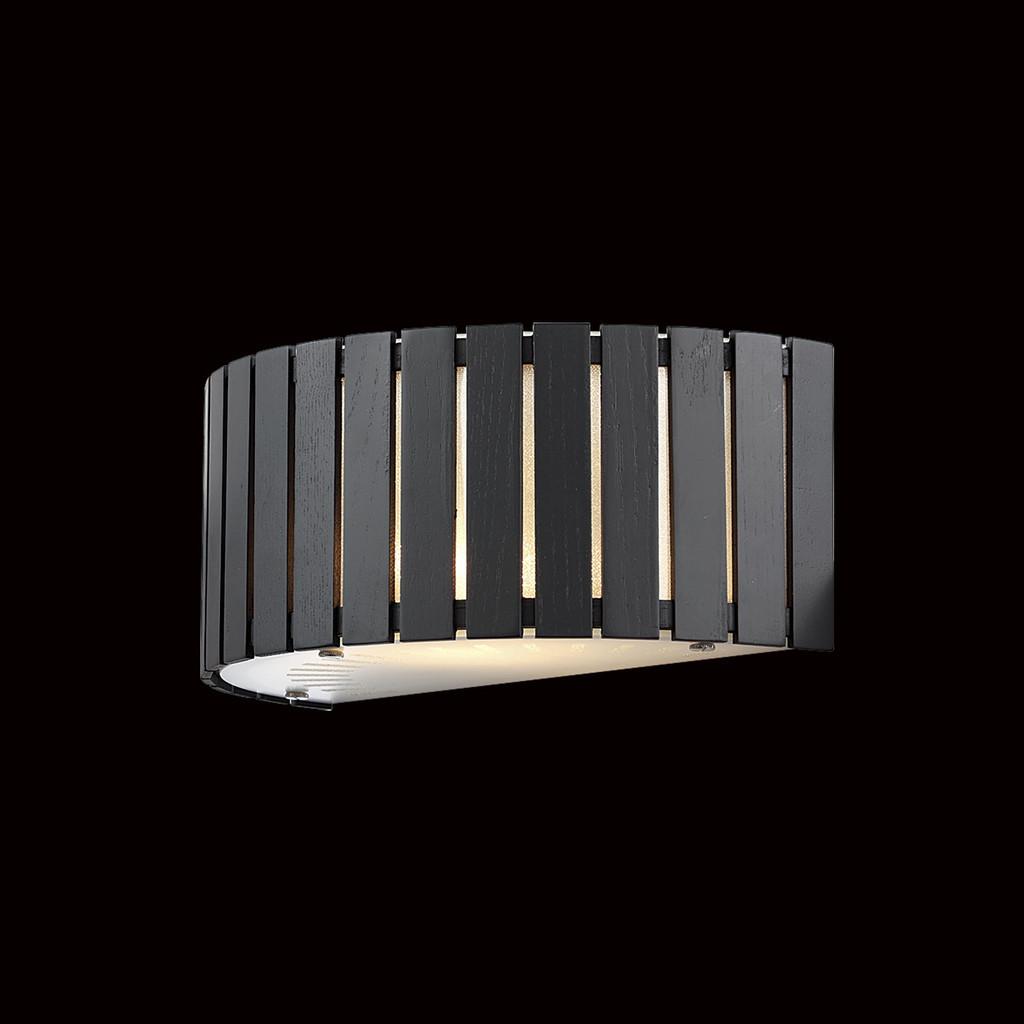 Настенный светильник Citilux Ямато CL137321, 2xE14x40W, коричневый, дерево, стекло - фото 2