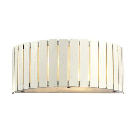 Настенный светильник Citilux Ямато CL137322, 2xE14x40W, белый, коричневый, дерево, металл, стекло