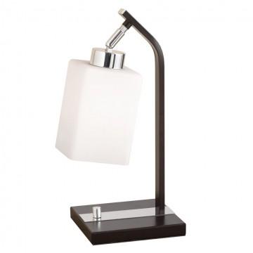 Настольная лампа Citilux Маркус CL123811, 1xE27x75W, венге, хром, белый, металл, стекло