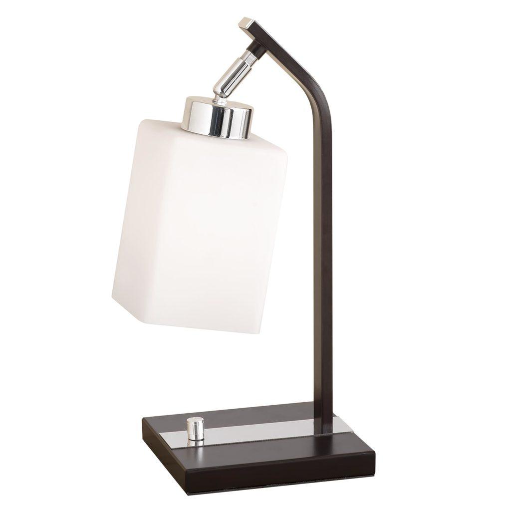 Настольная лампа Citilux Маркус CL123811, 1xE27x75W, венге, белый, металл, стекло - фото 1