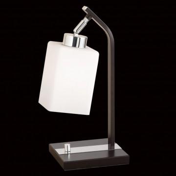 Настольная лампа Citilux Маркус CL123811, 1xE27x75W, венге, белый, металл, стекло - миниатюра 2