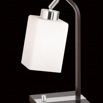 Настольная лампа Citilux Маркус CL123811, 1xE27x75W, венге, белый, металл, стекло - миниатюра 4