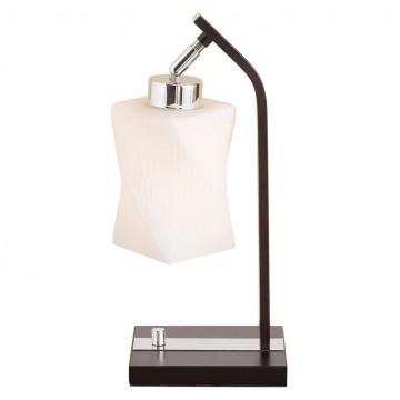 Настольная лампа Citilux Берта CL126811, 1xE27x75W, венге, белый, металл, стекло