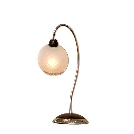 Настольная лампа Citilux Одиссей CL130811, 1xE14x60W, венге, хром, белый, металл, стекло